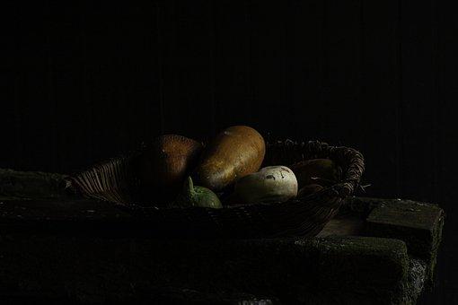 Melons, Fruits, Vegetables, Vegetable Basket, Kitchen