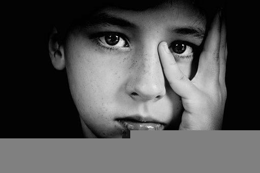 Boy, Fingers, Watch, Eyes, Black And White, Person