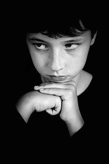 Portrait, Boy, Teen, Baby, Person, Pondered, Calm, Hand