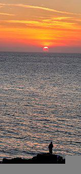 Jeju Island, Beach, Sunset, South Korea, Sea, Nature