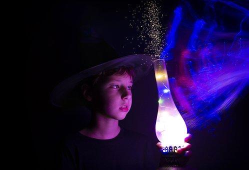 Magic, Wizard, Boy, Child, Fantasy, Mystical