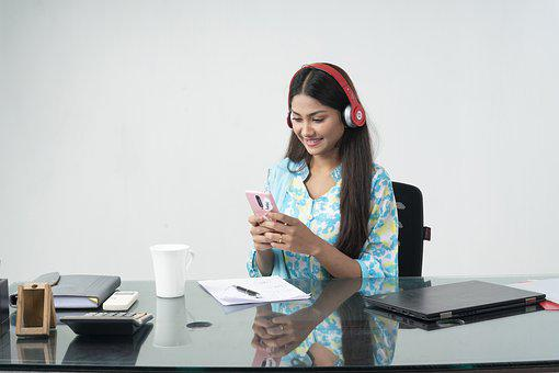 Woman, Technology, Workplace, Office, Working, Online