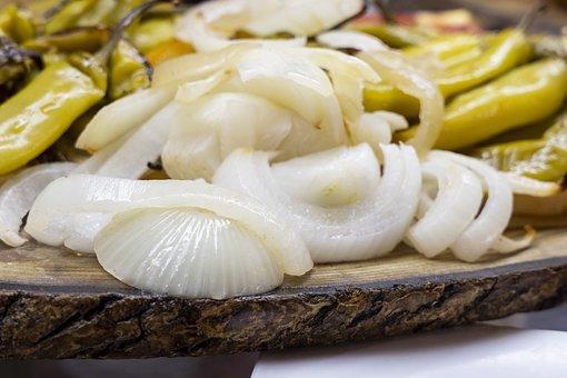 Onion, Pepper, Frying, Oil, Calories, Work, Food, Diet