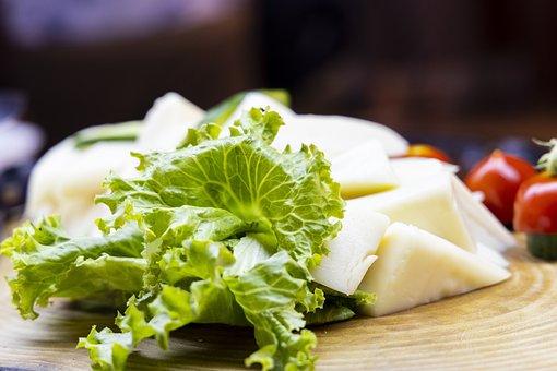 Cheese, Lettuce, Vegetables, Greens, Vegan, Vegetarian
