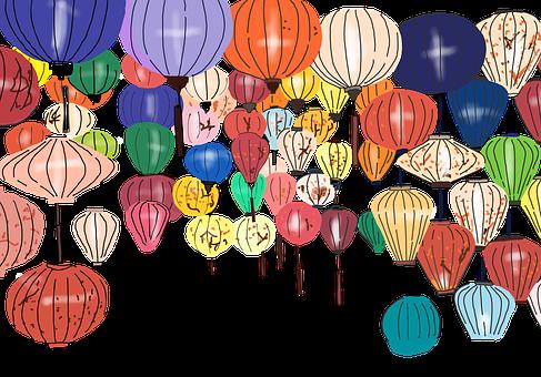 Lanterns, Hoi An, Vietnam, Colorful, Lamps, Lights