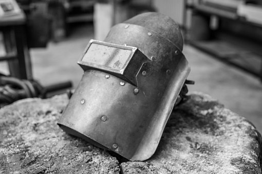 Welding Shield, Tool, Black And White, Workshop