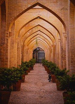 Iran, Shiraz, Mosque, Persian Architecture, Arches