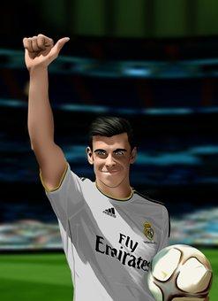 Football Player, Sports, Portrait, Happy, Gesture