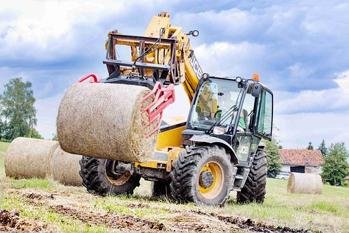 Tractor, Hay, Agriculture, Countryside, Farm