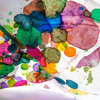 Stains, Texture, Background, Bund Color, Colorful, Dot