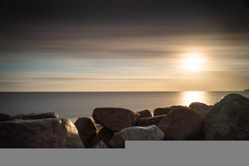 Long Time Exposure, Stones, Surreal, Mystical, Yellow