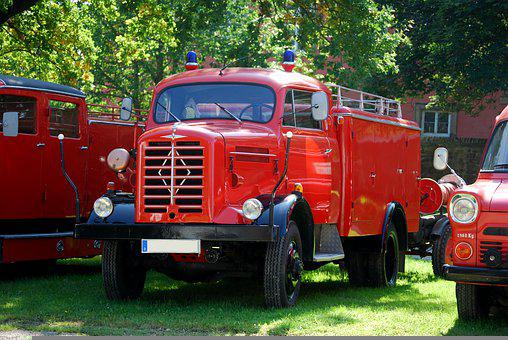 Fire Trucks, Antique Fire Trucks, Car Show, Auto Show