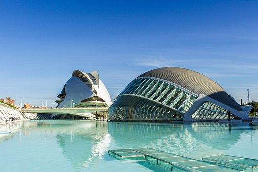 Buildings, Modern, Bridge, City Of Arts And Sciences