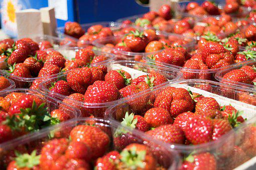 Fruit, Strawberries, Market, Organic, Sweet, Berry