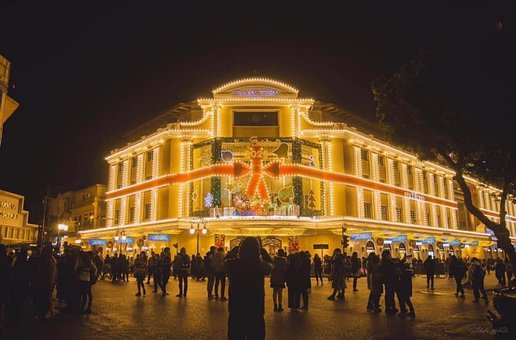 Trang Tien Plaza, Christmas, Night, Lights