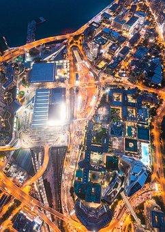 Street, Cars, Traffic, Roads, Night, Urban, Cyberpunk