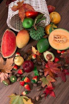 Fruits, Ripe, Organic, Fresh, Healthy, Vegetarian, Raw