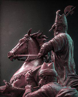 Nader Shah, Persian Warrior, Sculpture, Statue
