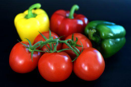 Tomatoes, Peppers, Vegetables, Produce, Food, Healthy