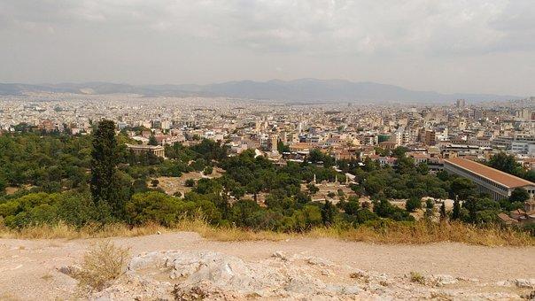 Athens, Greece, City, Urban, Buildings, Historic