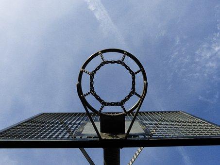 Basketball Hoop, Metal, Perspective, Leisure