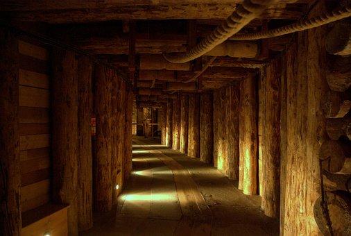 Wieliczka Mine, The Salt, The Salt Mine, Beams, Ceiling