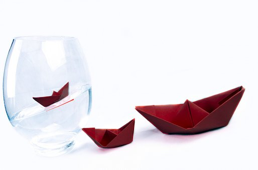 Ship, Away, Boat, Vase, Water, Paper Boat, Travel