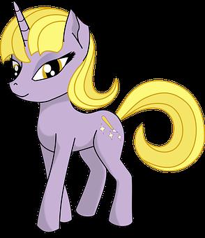 Unicorn, Fantasy, Fairy Tale, Pony, Cartoon, Cute