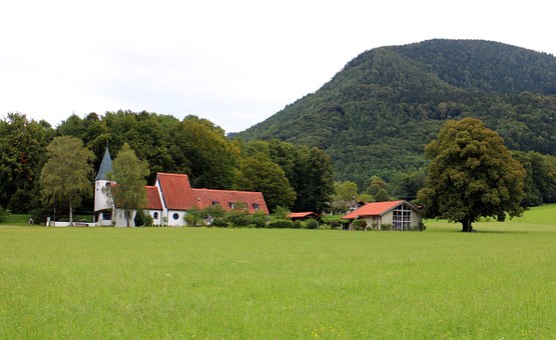 Church, Aschau, Landscape, Chiemgau, Church Of Peace