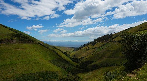 Ecuador, Malchingui, Andes, Field, Green, Cotopaxi