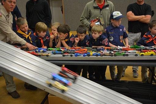Pinewood Derby, Boy Scouts, Scouts, Cub Scouts, Race