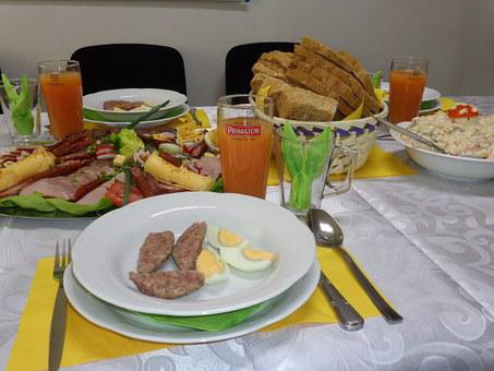 Easter, Dining Table, Covering, Cutlery, Event