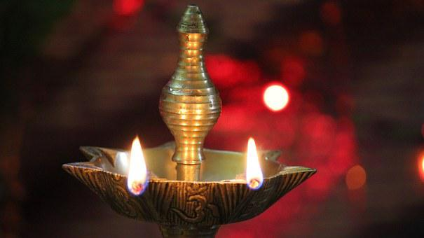 Lamp, India, Temple, Diya, Traditional, Hindu, Religion