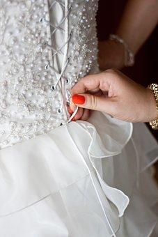 Tie, Corset, Back, Wedding, Dress, Lace Up, Fasten