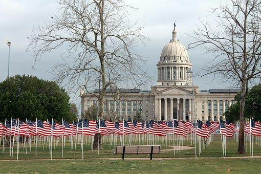 Oklahoma, Children, Abuse, Flags For Children, Symbolic