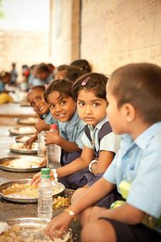 Food For Hungry Children, Mid Day Meal, Happy Children