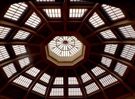 Ceiling, Dome, Windows, Architecture, Interior