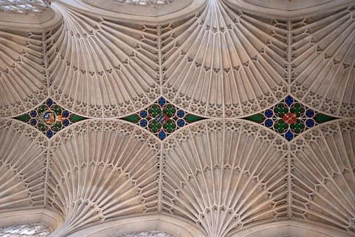 Fan Vaults, Bath Abbey, Stone, Ceiling, Roof, Interior