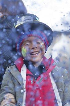 Child, Confetti, Happy, Make Up, Carnival, Glarus
