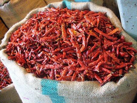 Chili, Mumbai, Market, Food, Red, Marketplace