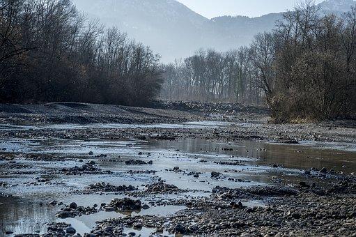 River, Landscape, Stones, Dornbirn, Oh, Trail, Riverbed