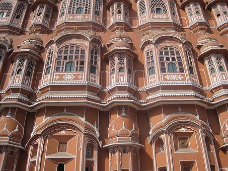 Hawa Mahal, Palace, Palace Of Winds, Architecture, Hawa