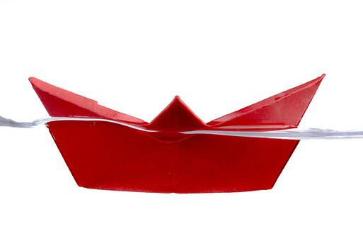 Ship, Away, Boat, Water, Red, Paper Boat, Travel