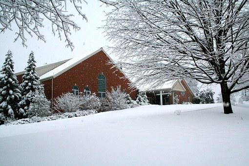 Park View Mennonite Church, Mennonite, Church, Winter