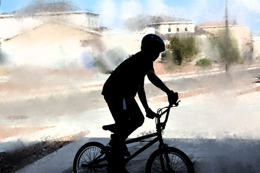 Boy, Bicycle, Bike, Biking, Silhouette, Male, Ride