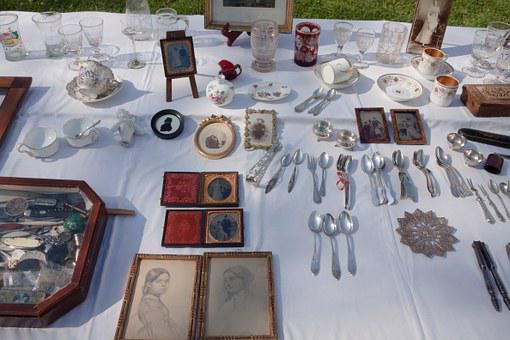 Flea Market, Junk, Antiques, Sale, Used Commercially