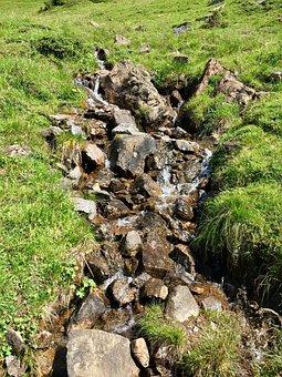 Mountain Stream, Alpine, Landscape, Stones, Nature