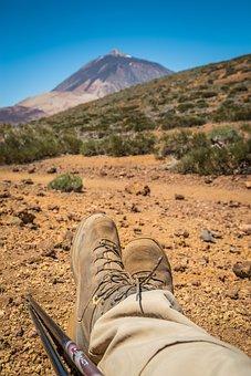 Teide National Park, Hiking, Rest, Pico Del Teide