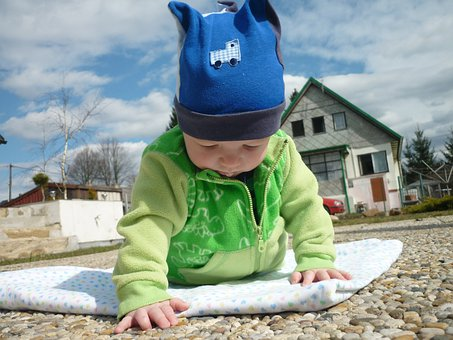 Toddler, Heaven, Stones, Game, Fun, Observation