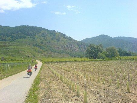 Austria, Landscape, Scenic, Mountains, Valley, Bikes